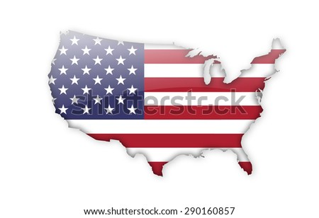 map of united states of america - stock photo