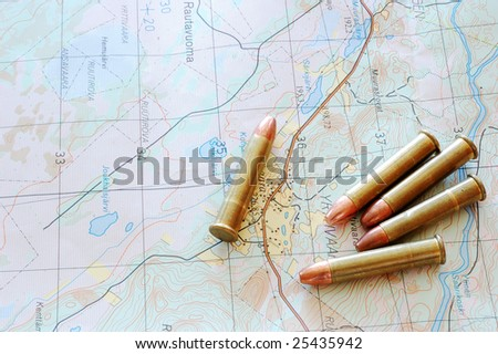 Map whit ammo - stock photo