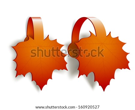 Maple Leaves advertising wobblers isolated on white background - stock photo