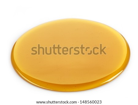 Maple syrup on a white background - stock photo
