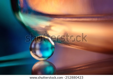 marble and dark background - stock photo