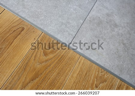 Marble and hardwood floor - stock photo