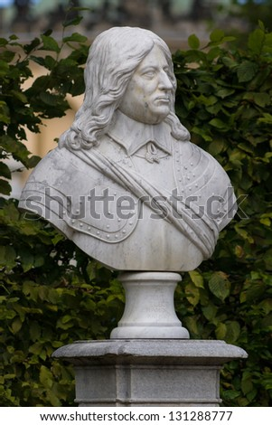 Marble bust of Frederick William, Elector of Brandenburg. Sanssouci. Podsdam. Germany - stock photo