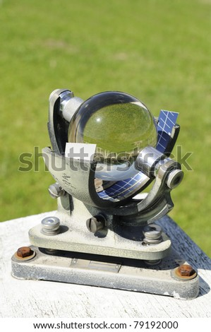 Marble Campbell Stokes Recorder temperature station - stock photo