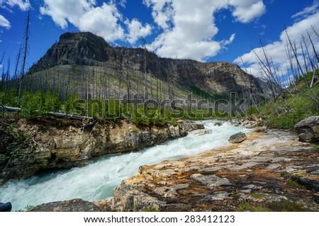 Marble Canyon,  Kootenay National Park, BC, Canada - stock photo