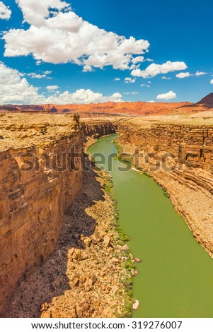 Marble Canyon, Navajo Bridge - stock photo