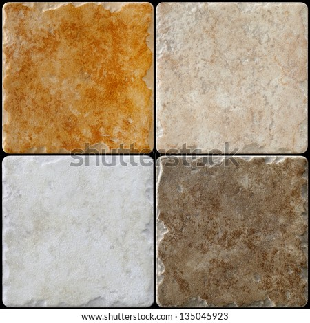 marble decorated background tiles, mosaic - stock photo