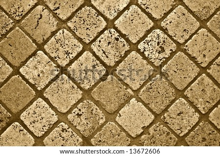 Marble floor background. Sepia version - stock photo