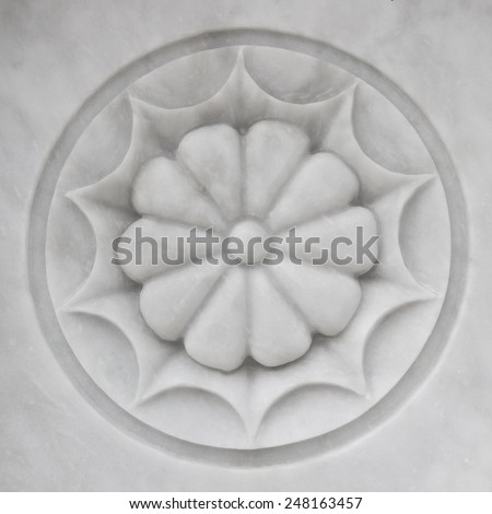 Marble Flower Sculpture - stock photo