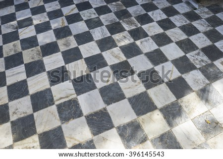 marble, gamero textured floor or chess, nineteenth century, grungy texture and old - stock photo