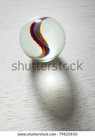marble glass ball - stock photo