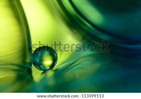 Marble in green - stock photo