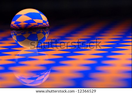 Marble on glass - stock photo