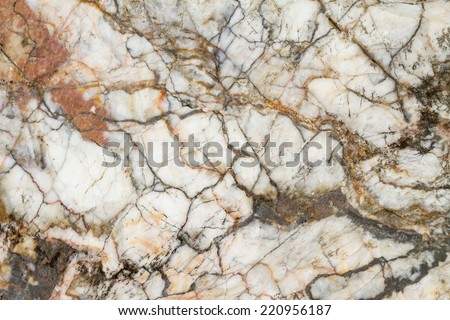 Marble patterned texture background (natural color), Marbles from the North of Thailand. - stock photo