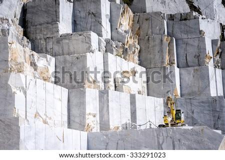 Marble quarry in marina di carrara italy - stock photo