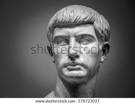 Marble sculpture of Marcus Junius Brutus - stock photo
