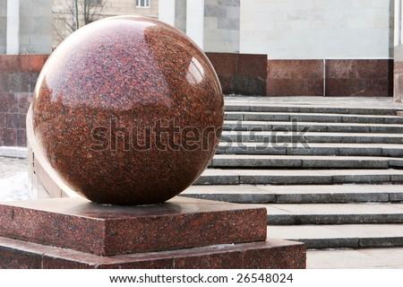 marble sphere - stock photo