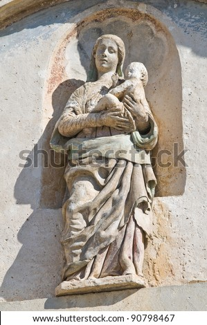Marble statue. - stock photo