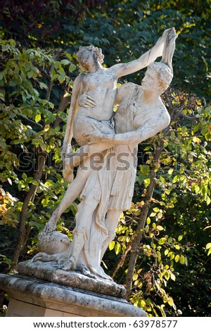 Marble statue at Sanssouci park in Potsdam, Germany - stock photo
