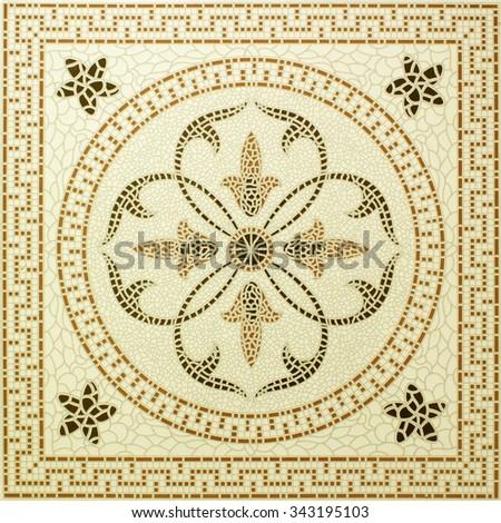marble-stone mosaic texture. - stock photo