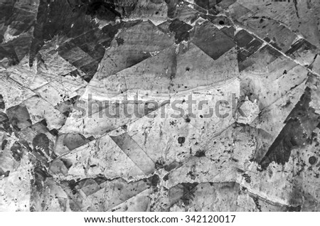 marble surface texture in black and white tone - stock photo