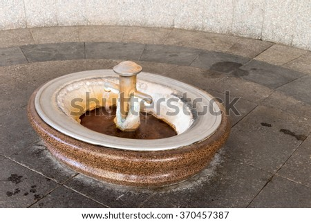Marble tap water - stock photo