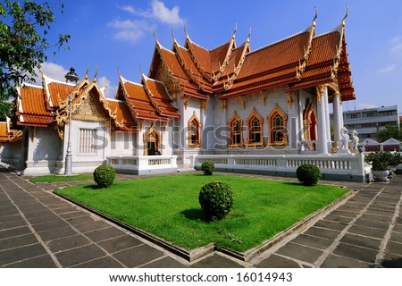 Marble Temple - stock photo
