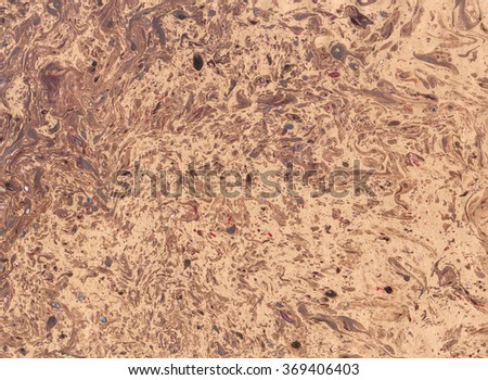 Marbled old paper. Abstract painting. Rich glamour luxury background. Retro vintage antique style. Boho, bohemian. Hand made east technique, genuine original effect Brown beige terracotta colors - stock photo