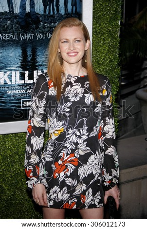 March 26, 2012. Mireille Enos at the Los Angeles Season 2 premiere of AMC's 'The Killing' held at the ArcLight Cinemas, Los Angeles.  - stock photo