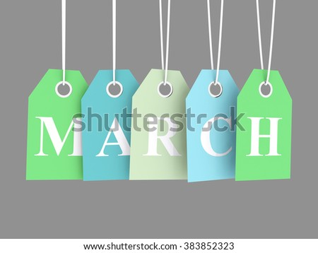 March sales - stock photo