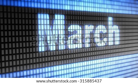 march sign - stock photo