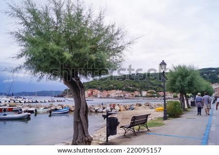 Marciana Marina harbor, Elba Island, Tuscany, Italy - stock photo