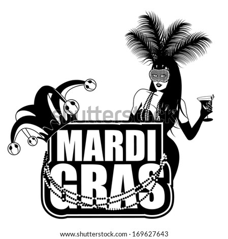 Mardi Gras design element. EPS 10 vector, grouped for easy editing. No open shapes or paths. - stock photo