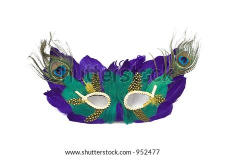 mardi gras mask isolated - stock photo
