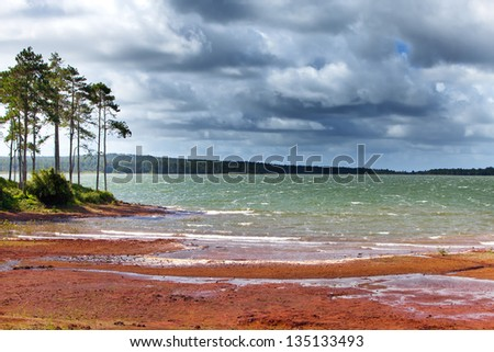 Mare-aux-Vacoas-the largest water reservoir of Mauritius - stock photo