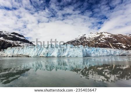 Margarie Glacier in Glacier Bay National Park, Alaska - stock photo