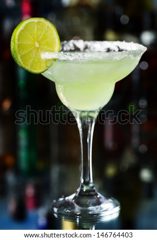 margarita cocktail with lime  - stock photo