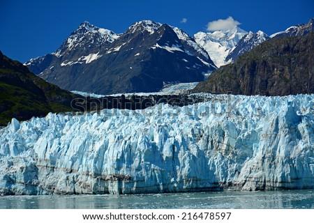 Margerie glacier in glacier bay, southeast alaska - stock photo