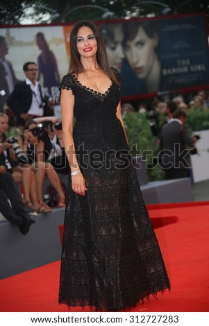 Maria Grazia Cucinotta attends the opening ceremony and premiere of 'Everest' during the 72nd Venice Film Festival on September 2, 2015 in Venice, Italy. - stock photo