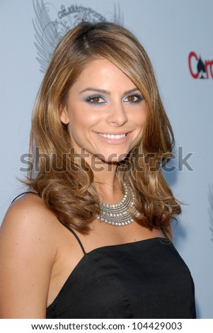 Maria Menounos at the Aces and Angels Celebrity Poker Party. Playboy Mansion, Beverly Hills, CA 07-11-09 - stock photo