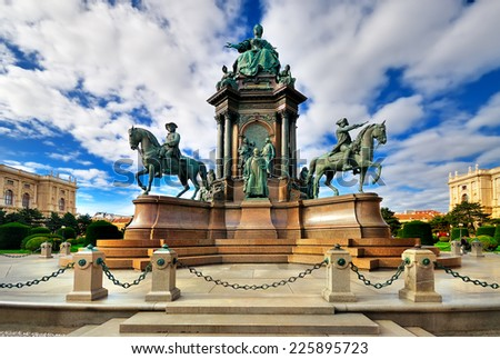 Maria Theresa Square in Vienna - stock photo
