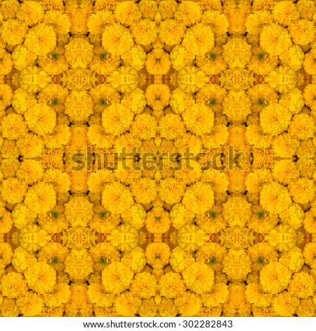 Marigold seamless pattern background - stock photo