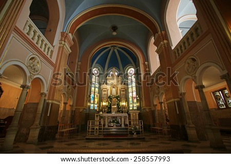 MARIJA BISTRICA, CROATIA - JULY 14: Basilica Assumption of the Virgin Mary in Marija Bistrica, Croatia, on July 14, 2014 - stock photo
