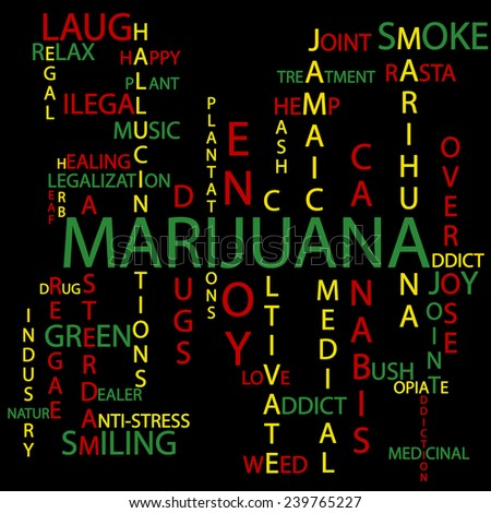 Marijuana background - stock photo