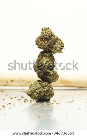 Marijuana Bud and Tobacco  - stock photo