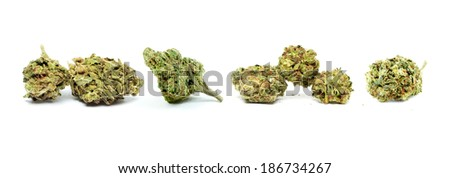 Marijuana Buds, Strains  - stock photo