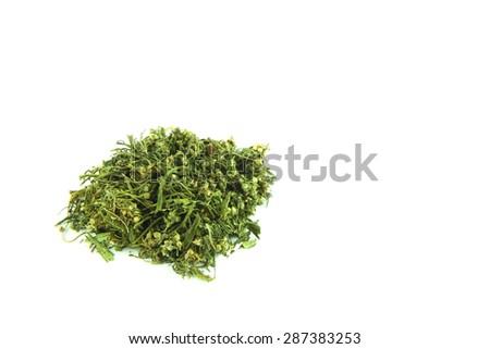 Marijuana isolated on clear background - stock photo