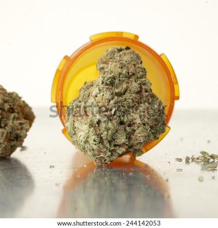 Marijuana, Medical Marijuana Buds, Weed  - stock photo