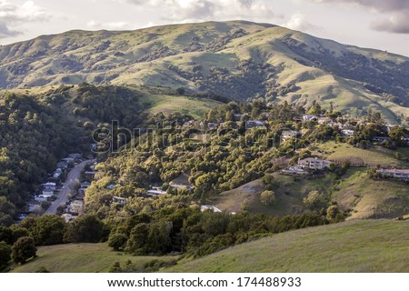 Marin county hills, California - stock photo