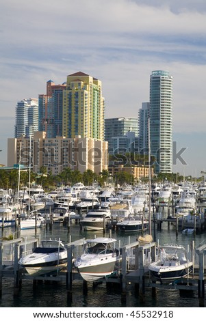 Marina At Biscayne Bay, South Beach, Miami, Florida - stock photo